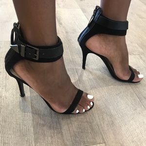 Zara Barely There Heels w/ Buckle Detail - Size 40